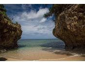 【プライベートビーチ~GASHIMUNE~】GASHIMUNEに宿泊したお客様だけが行くことができる、天然のプライベートビーチ。
