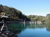 天然記念物の明神池◇車で3分池なのに海水魚が泳ぐ不思議なスポット