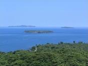 笠山山頂展望台◇車で3分展望台からは萩沖に浮かぶ島々を見ることができます