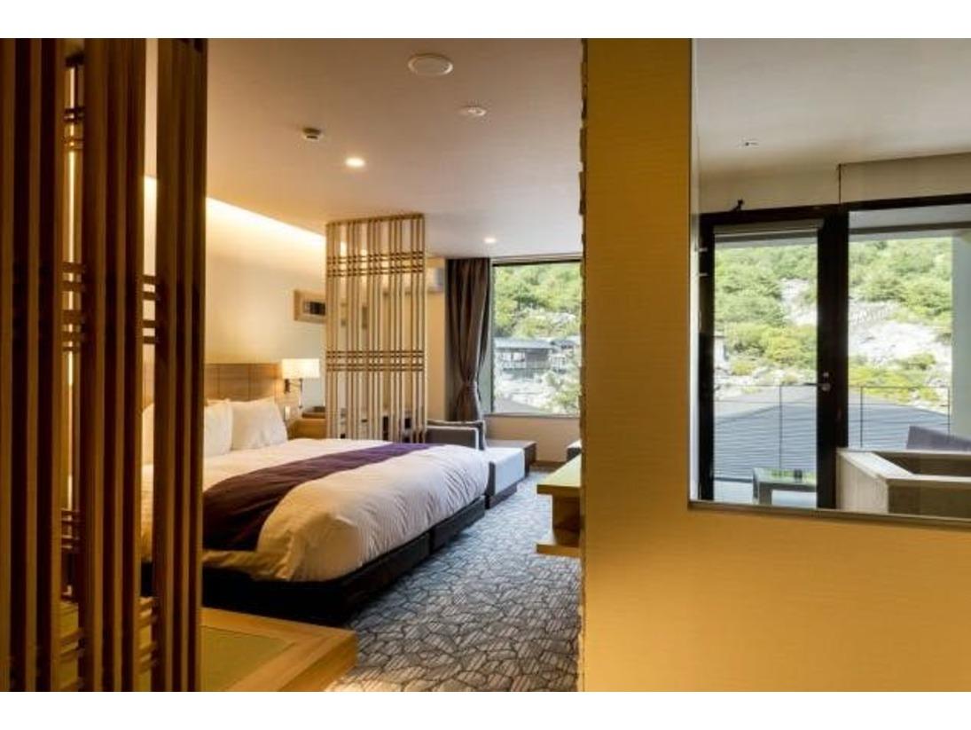 テラスプレミアキングベッドダブル客室イメージ