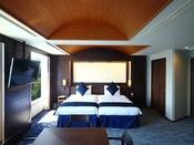 スイート 瀬戸内クルーズ 107平米ベッドルーム最大5名さままでご利用いただけます。