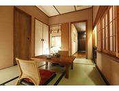 【客室】温泉露天風呂付き和洋室A(3名定員)…36平米・Superior Twin Room with Tatami Area and Open-Air Bath(For 3 Adults )