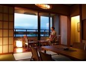 【客室】上層階温泉露天風呂付きスイートルーム(5名定員)…54平米・Suite Room with private open air-bath on 5 floor ( for 5 adults )