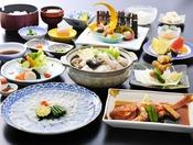 茨城のふぐをたっぷり使ったお料理