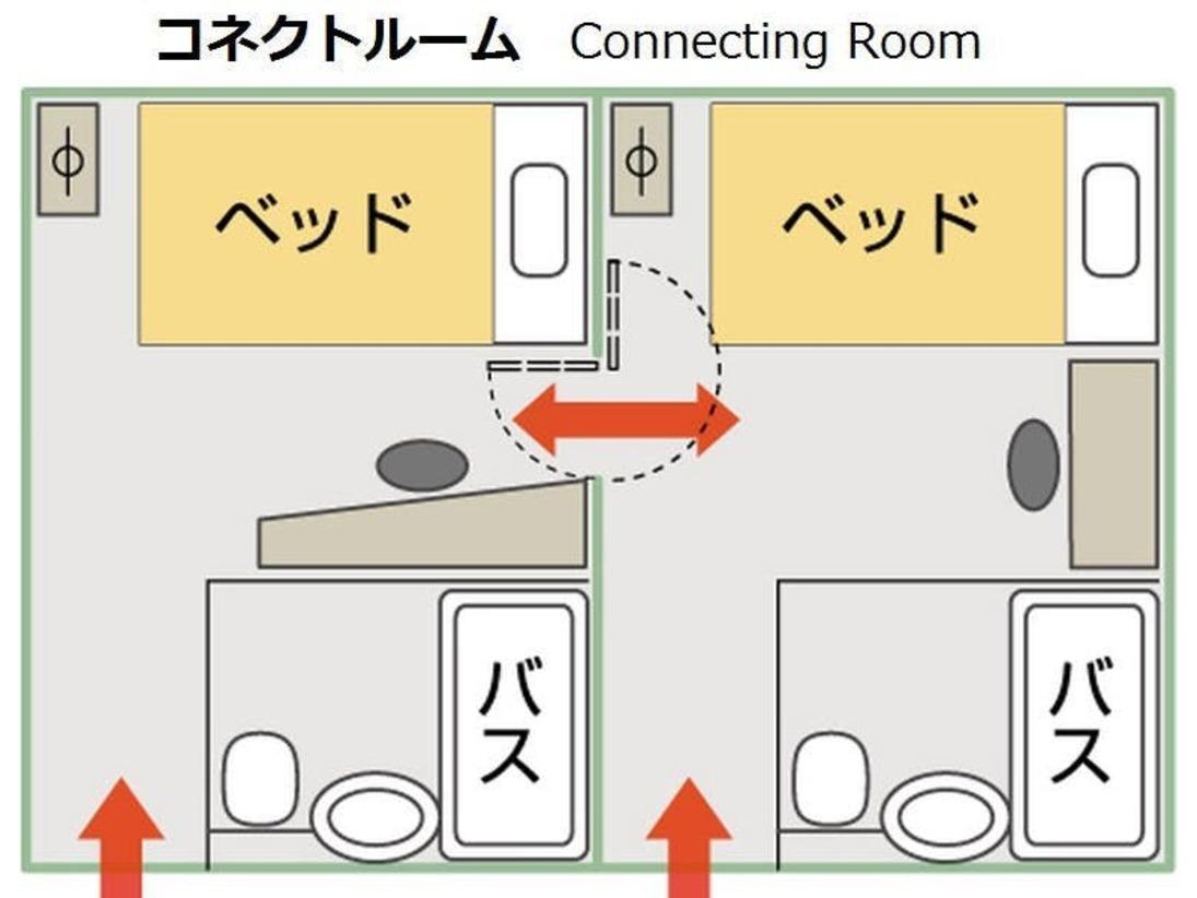 ベッドはダブルベッド×2台、4名利用時は各ベッドで2名様ずつお休みいただきます