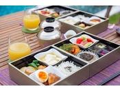 【Breakfast~創作和食~】野菜や果実のフレッシュな香りが朝の身体を優しく満たしてくれます。