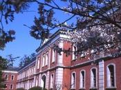 江田島市の旧海軍兵学校(ホテル近くの港より江田島行きの船もあります)
