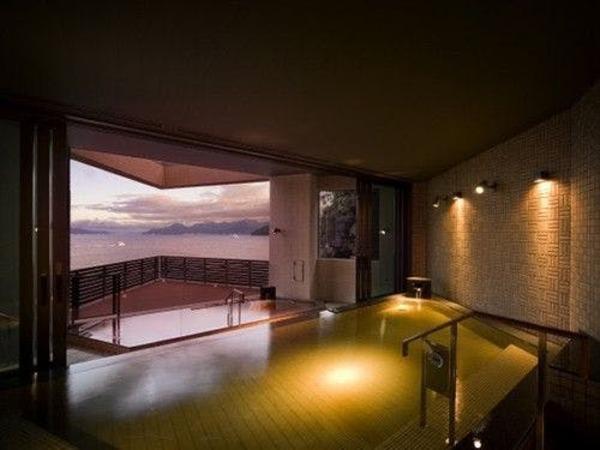 展望露天風呂 広島温泉「瀬戸の湯」