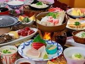 牛肉カットステーキ・上州地鶏つくねの塩ちゃんこ鍋【満腹会席】 ある日の一例