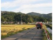 湯田川の田園風景