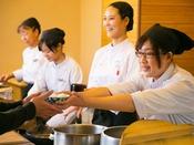 <朝食>【豆富屋さんのバイキング】実演で出来立ての朝食でおもてなし