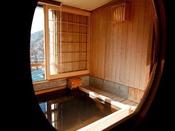 【客室展望風呂】のんびり湯ごもりをお楽しみください。