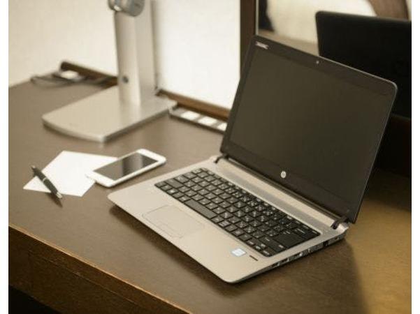 パソコン持参で客室でのネット利用無料