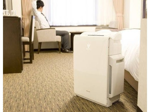 スーペリアルームの加湿機能付空気清浄機