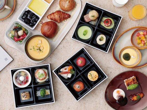 京の四季がコンセプトのお重朝食