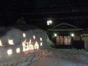 寒い夜にやさしく灯ります