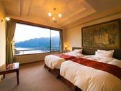 ■最上階の貴賓室-蓬莱-■ふかふかのベッドからの眺めは抜群!