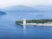 空と海に囲まれたグランドプリンスホテル広島