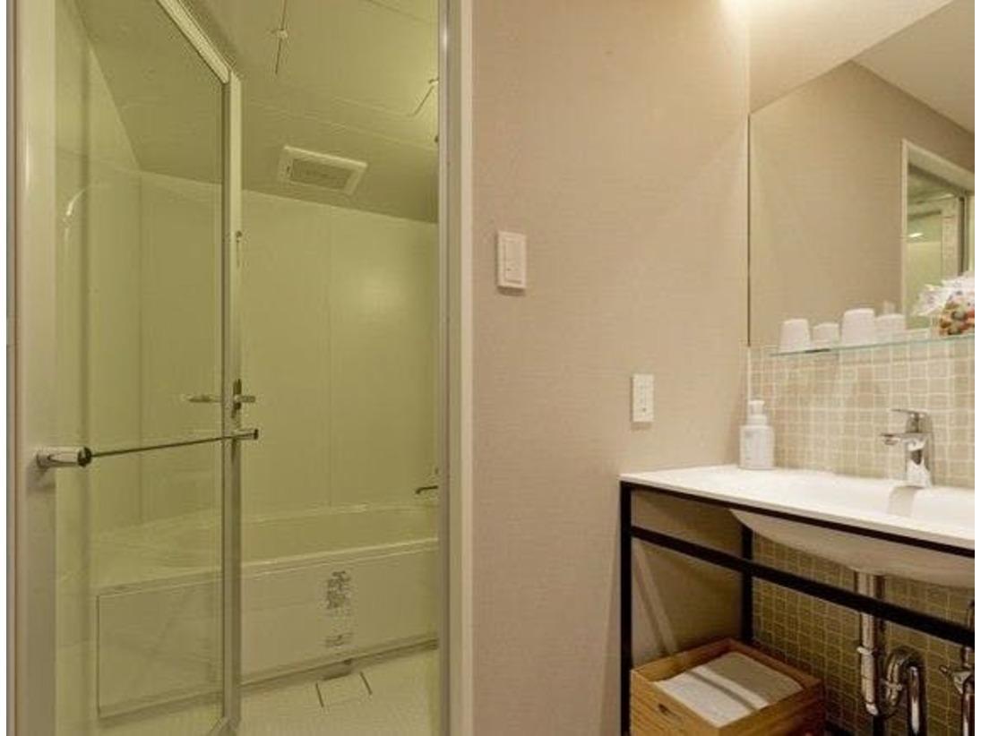 バスルームが独立しているのでごゆっくりと寛ぎ頂ける