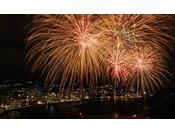 全てのお部屋から熱海海上花火大会をお楽しみ頂けます。