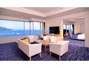 【エクセレンシィラージルーム(洋室)】120平米の広さを誇るラージルーム。わずか3室のお部屋。