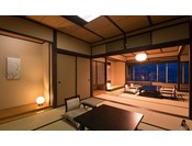 【エクセレンシィラージルーム(和洋室)】120平米の広さを誇るラージルーム。わずか3室のお部屋。