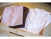 【アメニティ】色浴衣の他、館内着・パジャマをご用意