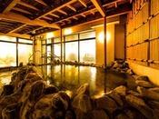 露天風呂(男性)青森駅前では唯一の自家源泉の「天然温泉」