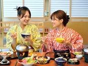 和食会席を楽しむ