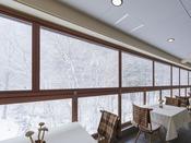 冬のフレンチレストラン