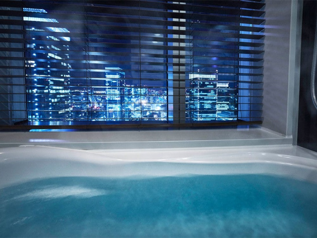 入浴しながら夜景が楽しめるビューバスルーム
