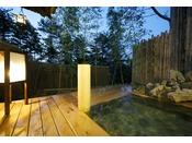 【貸切風呂 竹座】開放的な温泉露天風呂・Private open air-bath ( image )