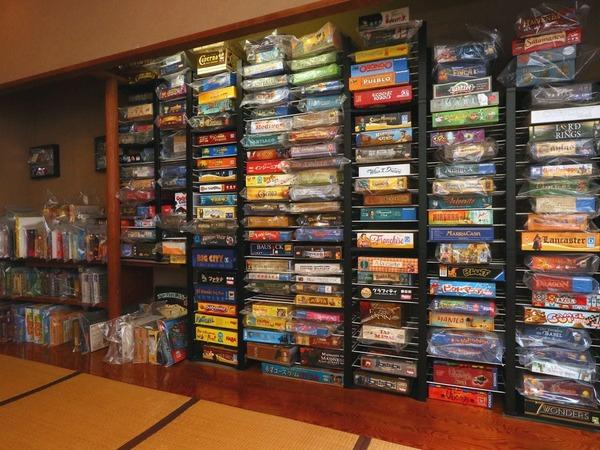 550種のボードゲームをご用意!