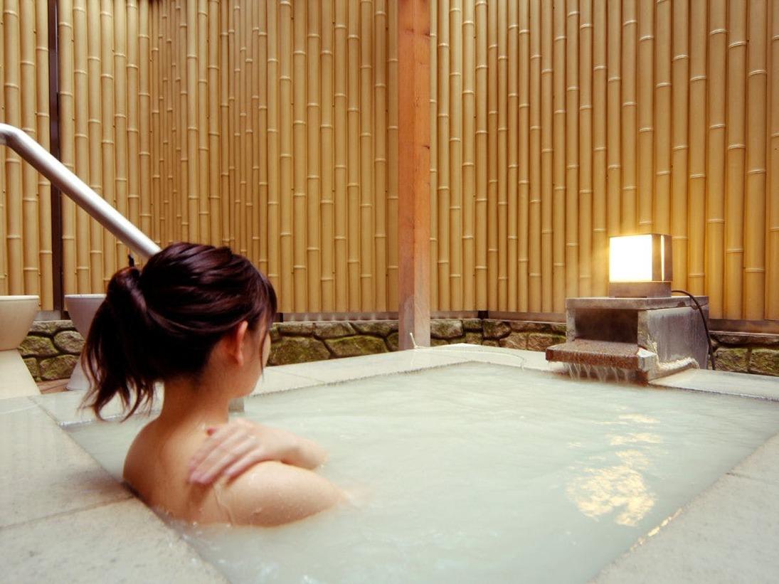 貸切風呂で、気兼ねすることなく温泉を満喫