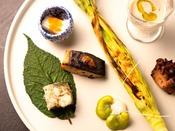 【湯相七席/七席の膳 2020春のお料理一例】一つひとつ、素材の持ち味を吟味して。