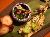 【翠山御膳/2019春膳のお料理一例】素材を吟味し、毎日たった一つのコースを作り上げます。