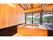 特別室檜風呂からの景色