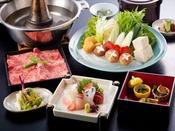 選べる鍋プラン夕食(一例)