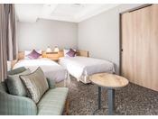 [コンフォートツイン] 20.9平米 ベッド幅100センチ×2台