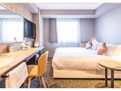[レディースツイン] 17.4平米 ベッド幅100センチ×2台