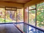 秋には大浴場から紅葉をご覧いただけます