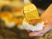 """【朝食一例 味噌焼きおにぎり】""""2年物の自家製""""味噌をふんだんにつかった絶品・焼きおにぎり"""