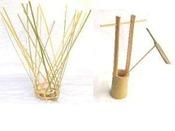 たくみの里「竹細工の家」一輪挿し等製作
