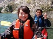 4月中旬~下旬にかけて赤谷湖でお花見カヌーが楽しめます♪