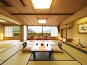 ■湖側の特別室■ 石庭から湖畔の景観を一望する和室二間