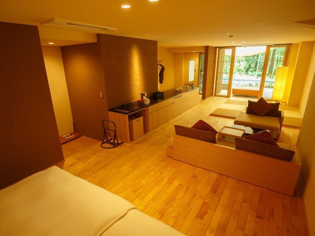 露天風呂付き客室の一例(103号室)
