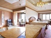 【本館コネクトルーム】和室と洋室が内扉で繋がったお部屋でございます。