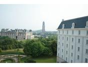 ジュニアスイートからの風景、HTBのドムトールン塔がご覧頂けます。