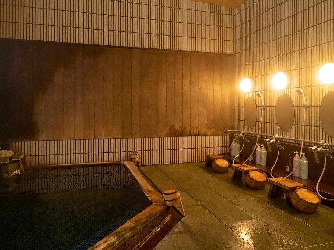 天女の湯。温泉は「松江しんじ湖温泉」。美肌の湯として知られています。