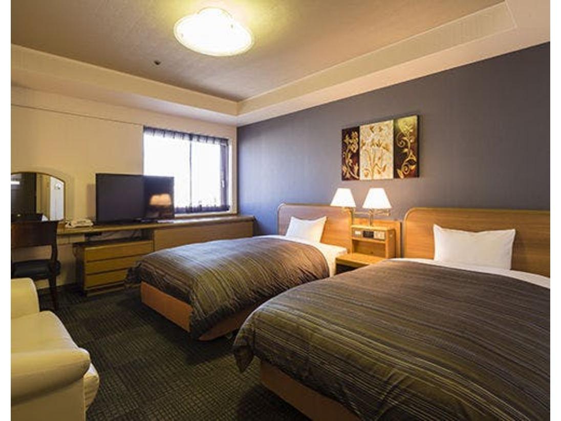 <ツインルーム>Wi-Fi完備 24平米/ベッド幅125cm